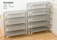 4466 # stainless steel multi-layer non-woven simple shoe rack multi-function receive shelf shoe ark(China (Mainland))