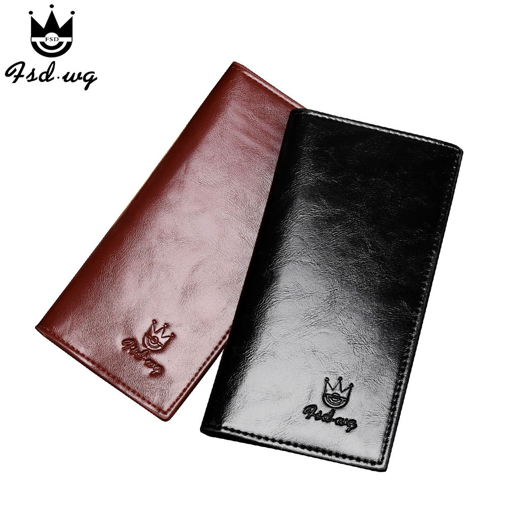 new men's wallet long black brown wallets mens no zipper famous brand pursepu leather men clutch caid holder coins pockets bag(China (Mainland))