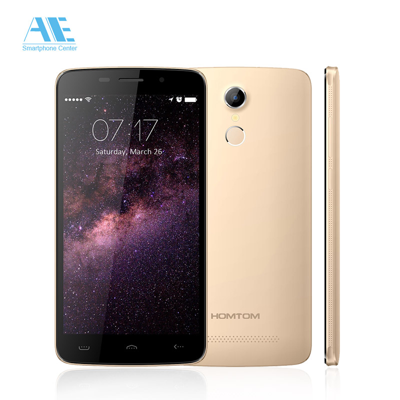 """Homtom HT17 MTK6737 Quad Core Cellphone Android 6.0 1G RAM 8G ROM Mobile Phone 5.5"""" HD Screen 4G LTE FingerID Smartphone(China (Mainland))"""