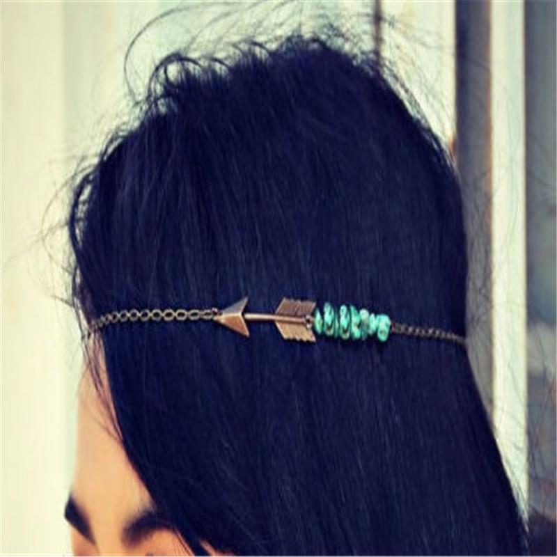 2016 Bohemian Women Lovely Fashion Charming Alloy Head Chain Jewelry Forehead Dance Headband Piece Hair Band(China (Mainland))