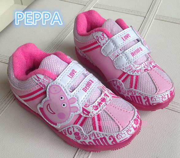 PEPPA Children Sport Shoes PU Sneakers girl kid Run child sport casual skateboarding shoes Travelling - Cricco Store store