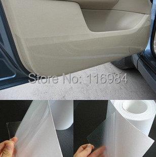 10cm ,15cm ,20cm x 100cm Universal Clear Door Sill or Door Edge Paint Protection Vinyl Film Sheet(China (Mainland))