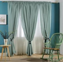 New Hot sale Finished curtains for windows gauze voile tulle sheer curtain embroidered modern curtains for living room(China (Mainland))
