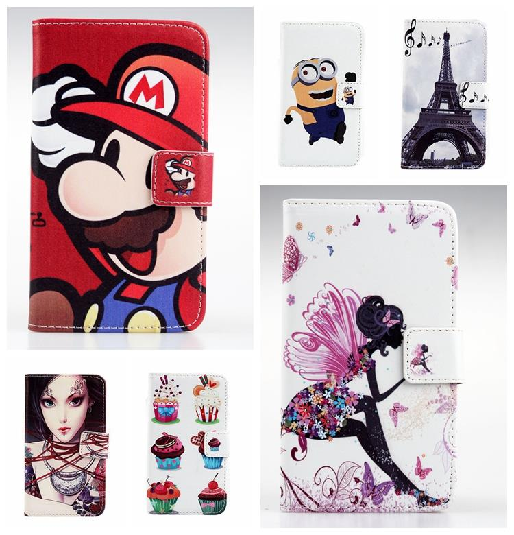 1X Fashion Accessory Hot Sale Painted Flip Cover Pouch PU Leather Case Iron Tower Book Style Stand For Motorola XT319(China (Mainland))