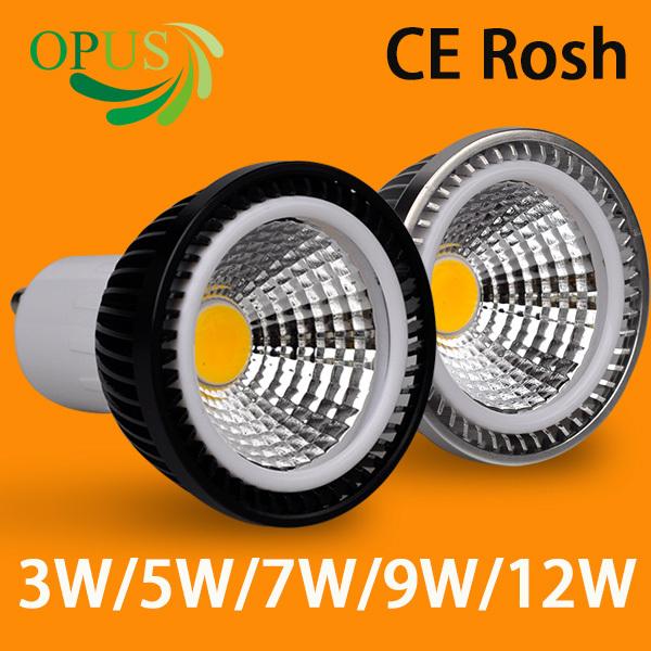 100% Quality Assurance LED 3W 5W 7W 9W GU10 Warm White Cree COB LED Bulb Dimmable COB LED Sport light lamp MR16 cob spot light(China (Mainland))