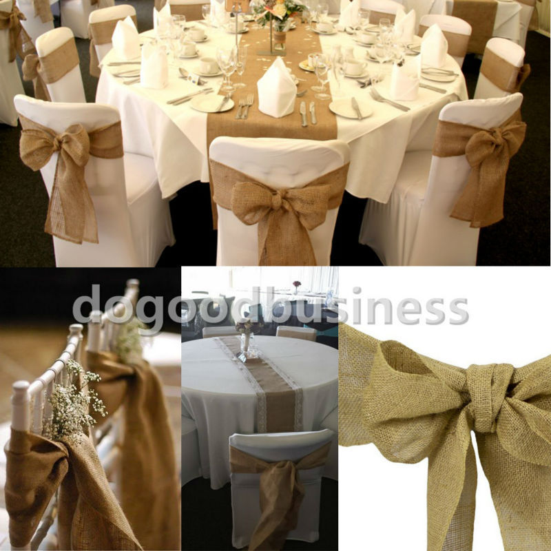 Hessian tablecloth wedding