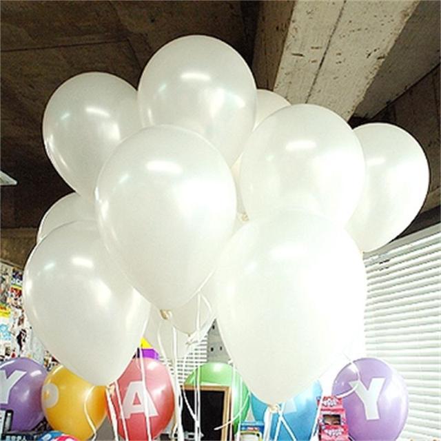 10 шт./лот 10 дюймов белый воздушный шар латекса воздушных шаров надувные свадьба ну вечеринку на день рождения малыш ну вечеринку поплавок шаров для детей игрушки