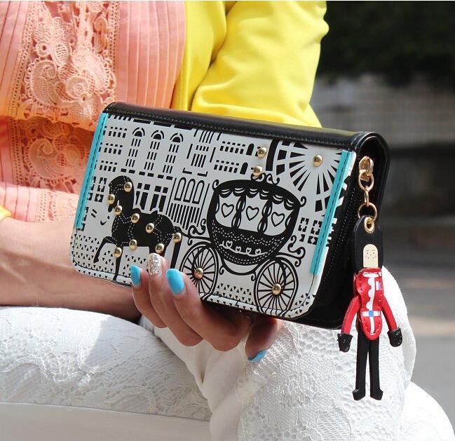 Carteira Feminina Bag Lady Women Rivet Purse Long Wallet Carteras Bags Bolsa Feminina Handbags Card Holder Porte Monnaie(China (Mainland))
