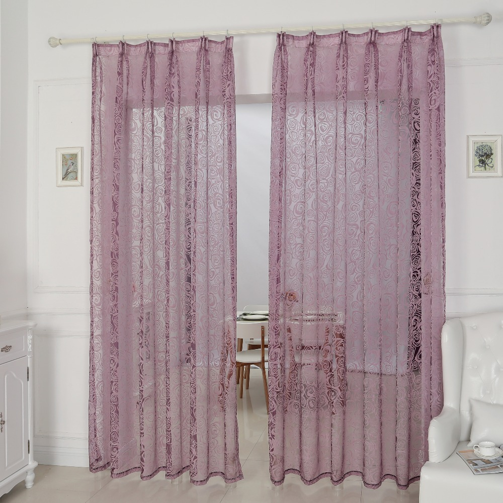 Cozinha janela cortinas de tecidos de organza cortinas - Tela termica para cortinas ...