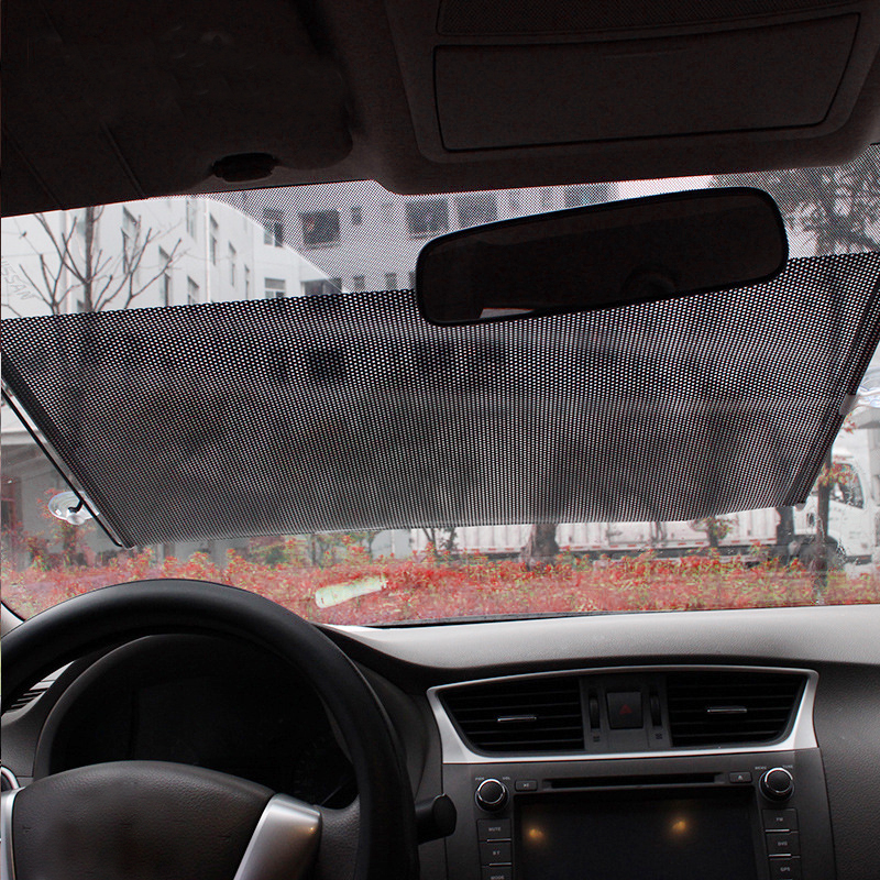 Auto Car Retractable Front Rear Windshield Sun Shade Cover Shield Blind Visor(China (Mainland))