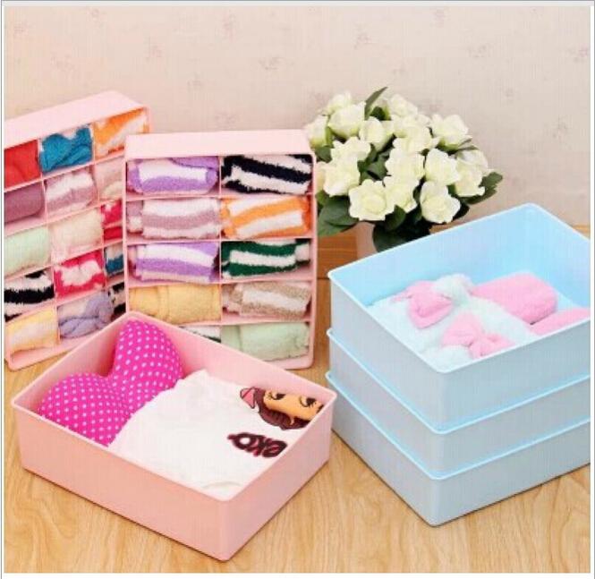 Top Quality 2015 new arrival multi plastic box clothes underwear storage box shoe organizer travel wholesale 1pcs/lot ZF4006(China (Mainland))