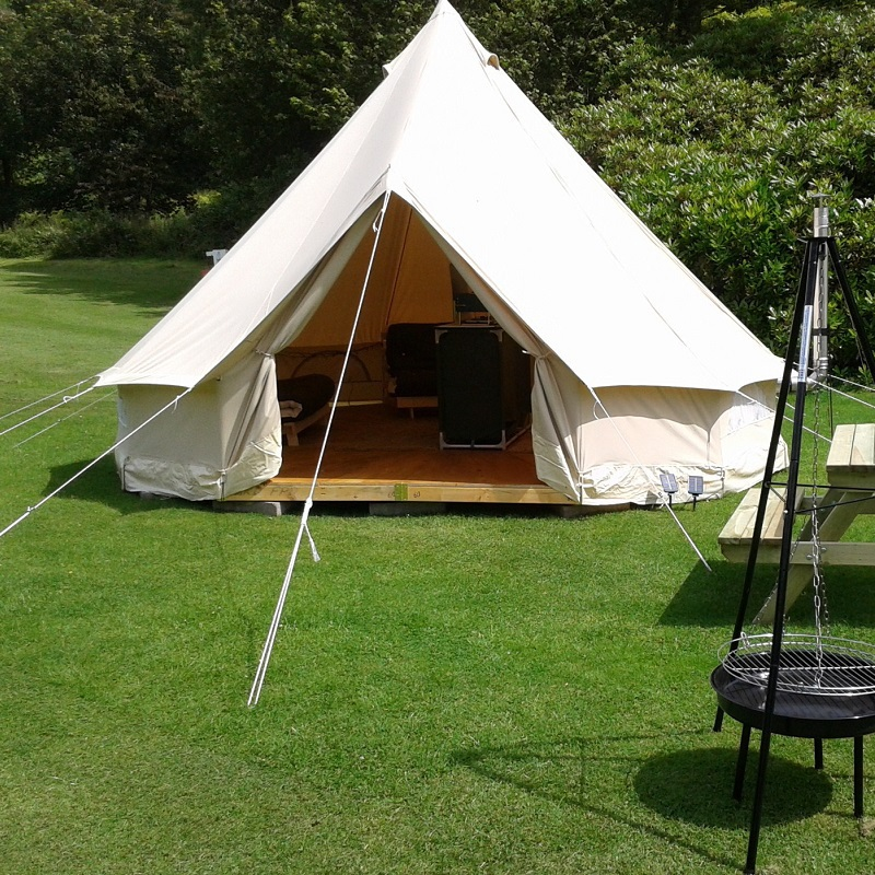 Diameter 4m outdoor leisure camping canvas bell tent for How to make a canvas tent
