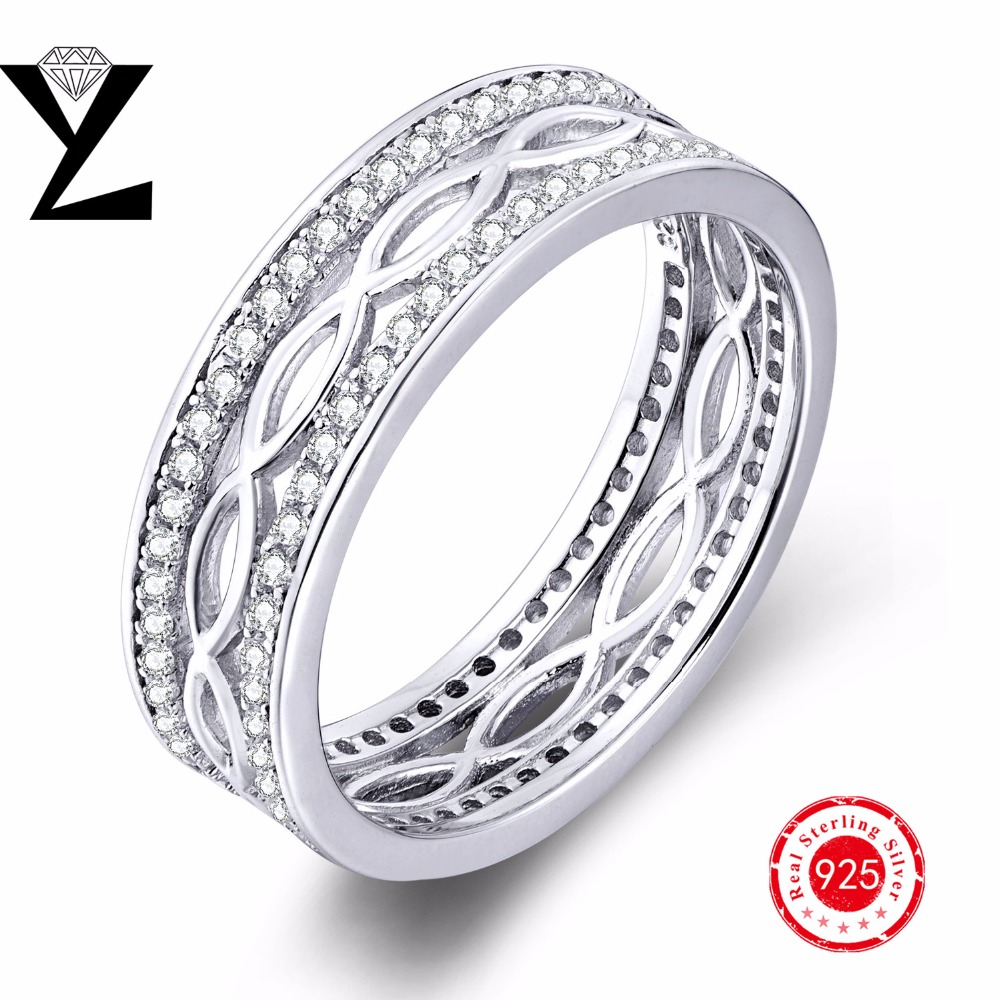 Romantic Real 925 Sterling Silver Finger Rings For Women AAA CZ Anniversary Engagement 925 silver Rings Fashion Jewelry(China (Mainland))