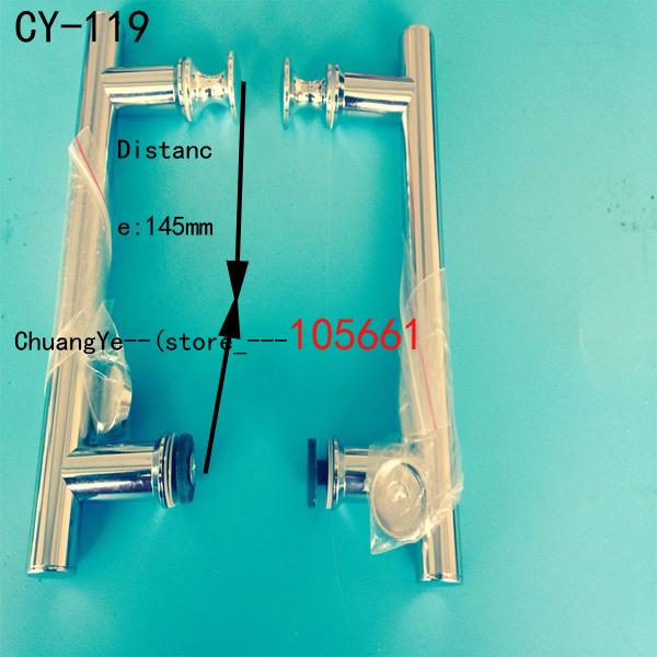 Stainless steel shower handle 19 *145 bathroom handle glass handle<br><br>Aliexpress