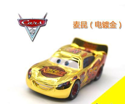 Cars Gold No.95 Lightnings Macqueens Diecast Metal Toy Car For Children 1:55 Loose Brand New In Stock Lightning McQueen