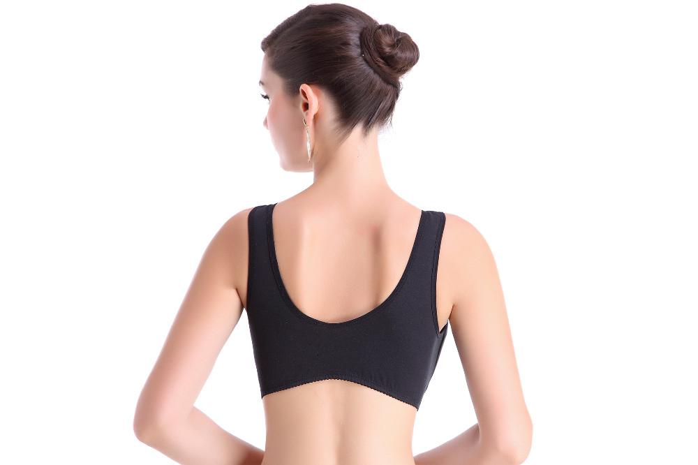Large size maternity underwear vest cotton open front button in the elderly nursing bra bra without ring women underwear Mater