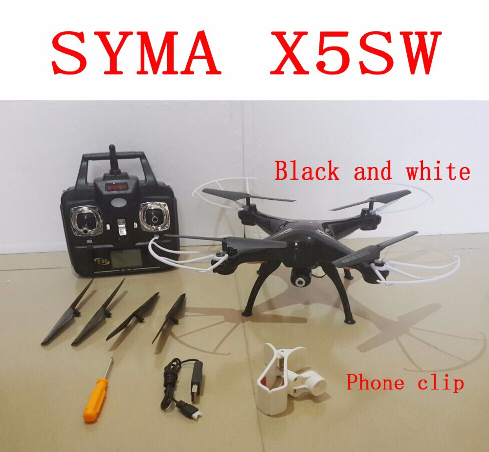 Best sellers Syma x5sw (Black and White) 2.4G 4CH 6-Axis 2MP WIFI Quadcopter RC Helicopter Toys Drone With Camera and x5sw-1(China (Mainland))