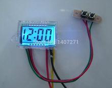 Digital LCD Dashboard Auto Clock time DC 12V Waterproof for Car Motorcycle Motor free shipping(China (Mainland))