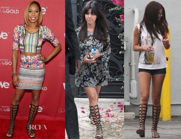 2015 100% Brand Original Genuine Leather Knee High Gladiator Sandals