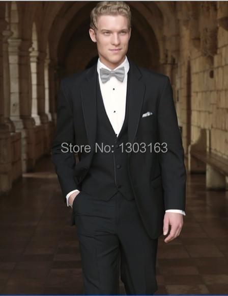 2014 Suits Custom-made Groom Tuxedos Notch Lapel Best man Suit Groomsman Suits (Jacket+Pants+Tie+Vest)