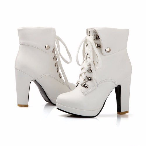 2013 New Hot Sale Fashion Women Ankle Boots High Heels Lace Up Snow Bo
