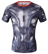 Red Plume Men's Compression T-Shirts ,Thor Armor Sports Fitness T-shirt, Exercise Fitness Shirts