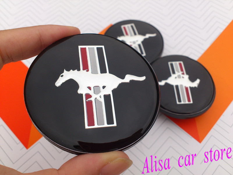 40pcs Free shipping 65mm Mustang Running Horse car emblem wheel center hub Dust-proof badge covers Car styling Auto accessories(China (Mainland))