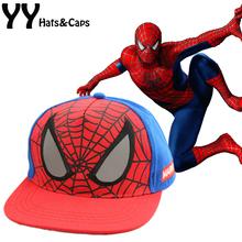 New Children Cartoon Spiderman Baseball Caps Baby Boy Snapback Adjustable Children's Sports Hats Fit For 48-53cm YY0773