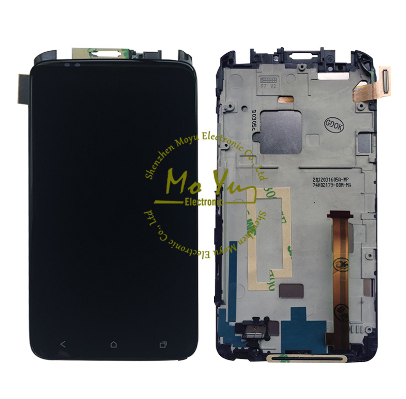 2015 hot sale For HTC One X lcd panleswith frame/for htc One XL AT&T LCD Display Touch Screen Digitizer Assembly + Frame black(China (Mainland))