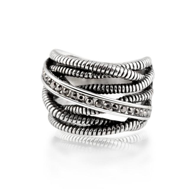 Мода ретро ювелирные изделия тайский посеребренная уникальный старинные кольца для ...