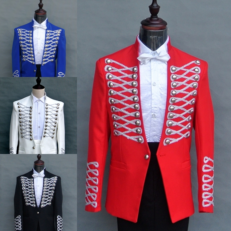(jacket + pants) 2015 new fashion Royal Palace men suits male singer prom costume clothes suits formal wedding dress outerwear(China (Mainland))