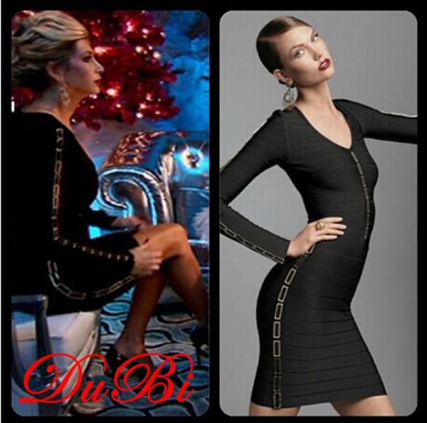 Fashion Sexy Sequined black long sleeve bandage dress, Alibaba express dresses wholesale from guangzhou dubi dress factory(China (Mainland))