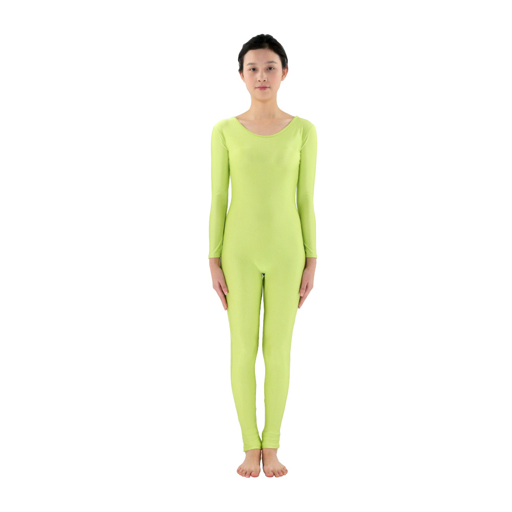 Black spandex dance unitard gymnastics and dancewear - Grass Green Women Long Sleeve Dance Ballet Gymnastics Unitard Custom Skin Suits Full Body Dancewear Costumes Spandex Lycra