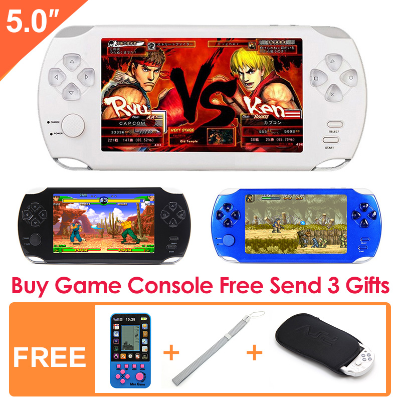 5 Inch Game Handheld New LCD Color Screen Video Game Console Built-in 300 Retro Games Console for Kids Educational Toy(China (Mainland))