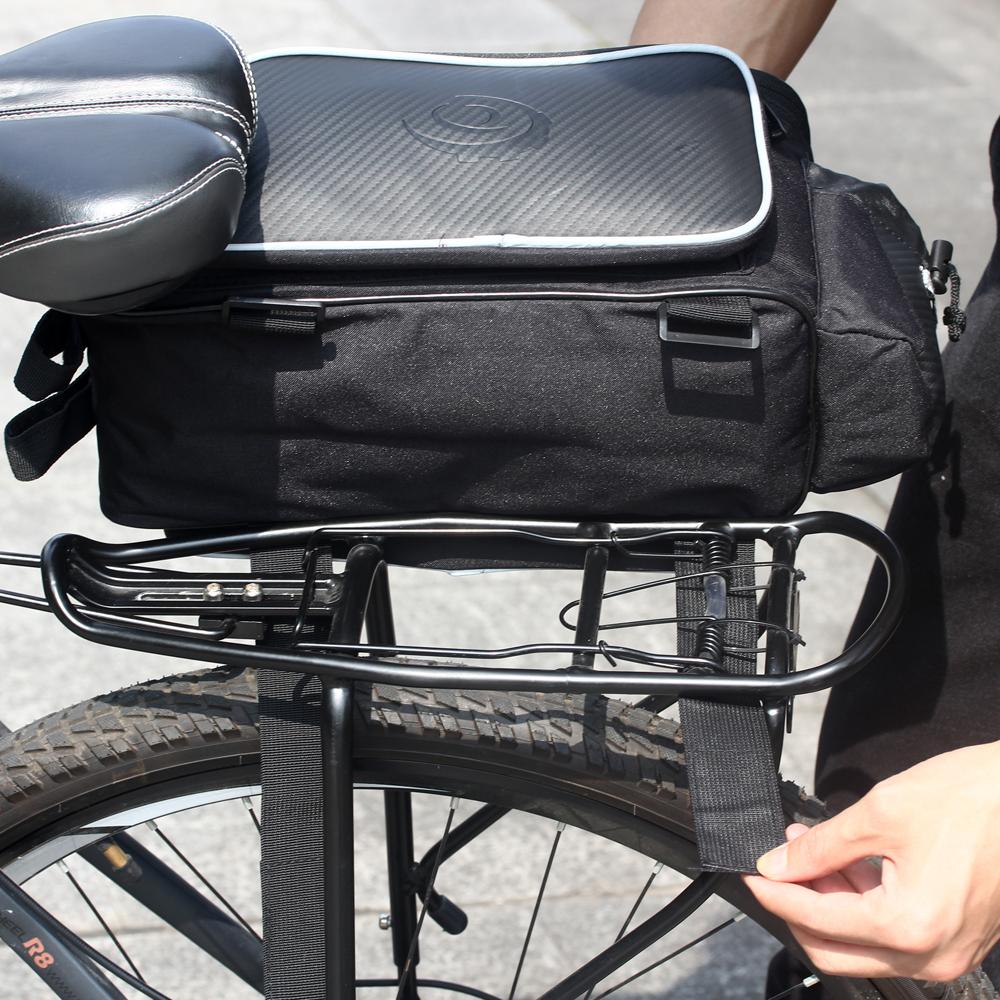 Bicycle Ride Pack Mountain Bike Pack Backseat Tail Bag Rack Pannier Black