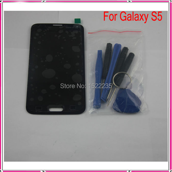 1Pcs Black LCD Display+Touch Digitized Assembly Replacement For Samsung Galaxy S5 i9600 G900F LCD+Opening Tools,Free Shipping