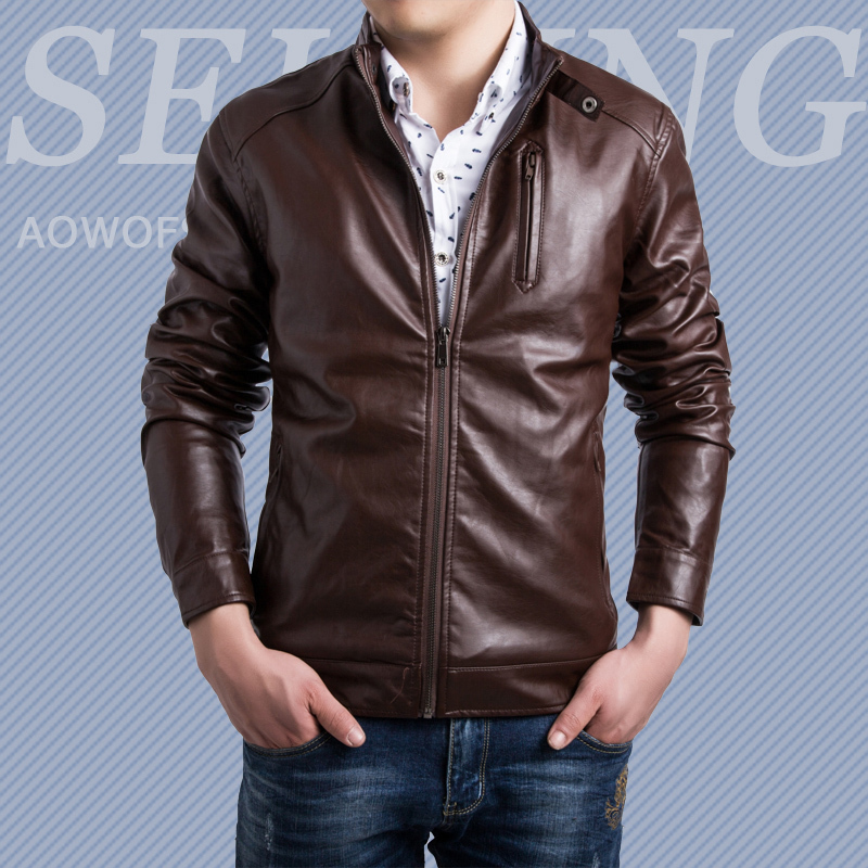 2015 New Leather Jacket Men Jaqueta Couro Masculino Motorcycle Leather Jackets Coat Outdoor Chaqueta Hombre Plus Size 5XL