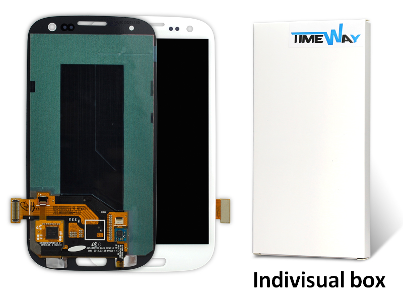 Фотография Hot Sale Dhl 20pcs For Samsung S3 I9300 Lcd Display Touch Screen Digitizer Assembly Replacement White/blue Free Shipping