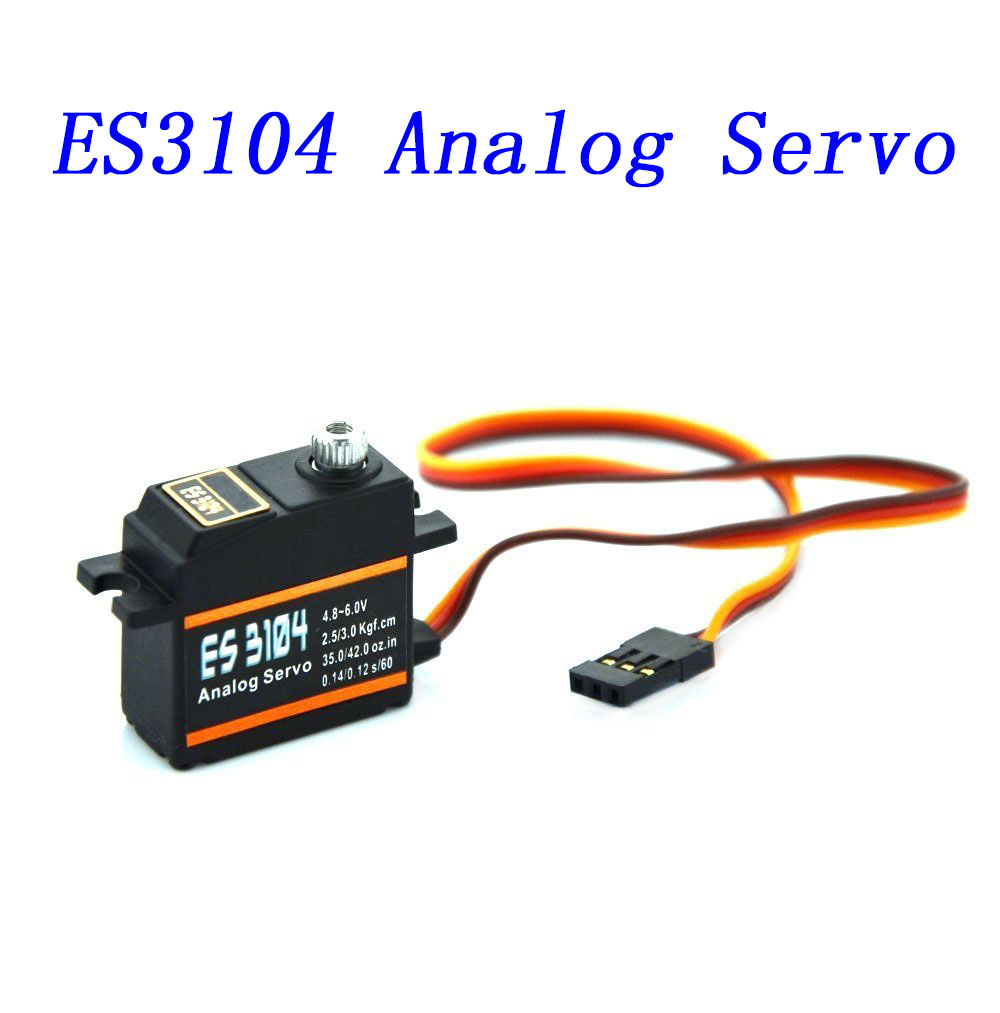 ES3104 Servo Metal Gear Mini Gear Analog Servo for RC Model Aircraft RC Accessories Operating voltage: 4.8V~6.0V RC Servo(China (Mainland))