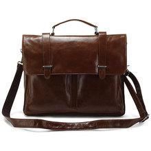 genuine leather Men's Business bag fashion briefcases Mobile Messenger bag Shoulder Bag  7069r(China (Mainland))
