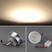 1PC 3W 3x1W LED Warm White Down Downlight Ceiling Spot Spotlight Recessed Light Lamp Bulb + Driver Long life Serviceable(China (Mainland))
