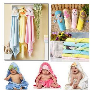 Free shipping Super soft animal cotton baby bath towel with hood toalhas covers newborn baby swaddle wrap blanket(China (Mainland))