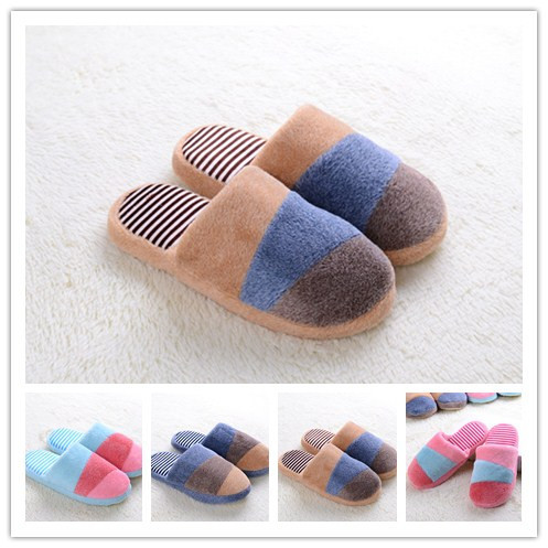 Гаджет  2014 New Autumn and Winter Thick Warm Men&Women Patchwork Cotton-padded Lovers at Home Slippers indoor shoes TX-02 None Обувь
