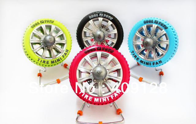 2013 new USB fan Creative tire design 4 colors  usb mini fan electric fan usb fan high quality mute rotating