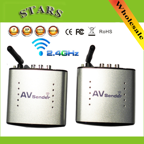 new arrival 2.4G Wireless AV Transmitter & Receiver Audio Video sender TV Signal receiver Extender 3 RCA PAT330,Free Shipping(China (Mainland))