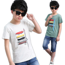 Buy 2017 Summer Cotton Boys T Shirt Kids Children Boy Clothes Brand Children Clothing Short Sleeve Children Tops Tshirt 3-14 Y for $7.37 in AliExpress store