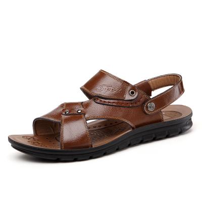 Бесплатная доставка новые мода кожа швейные пляжные сандалии мужской обуви квартиры ...