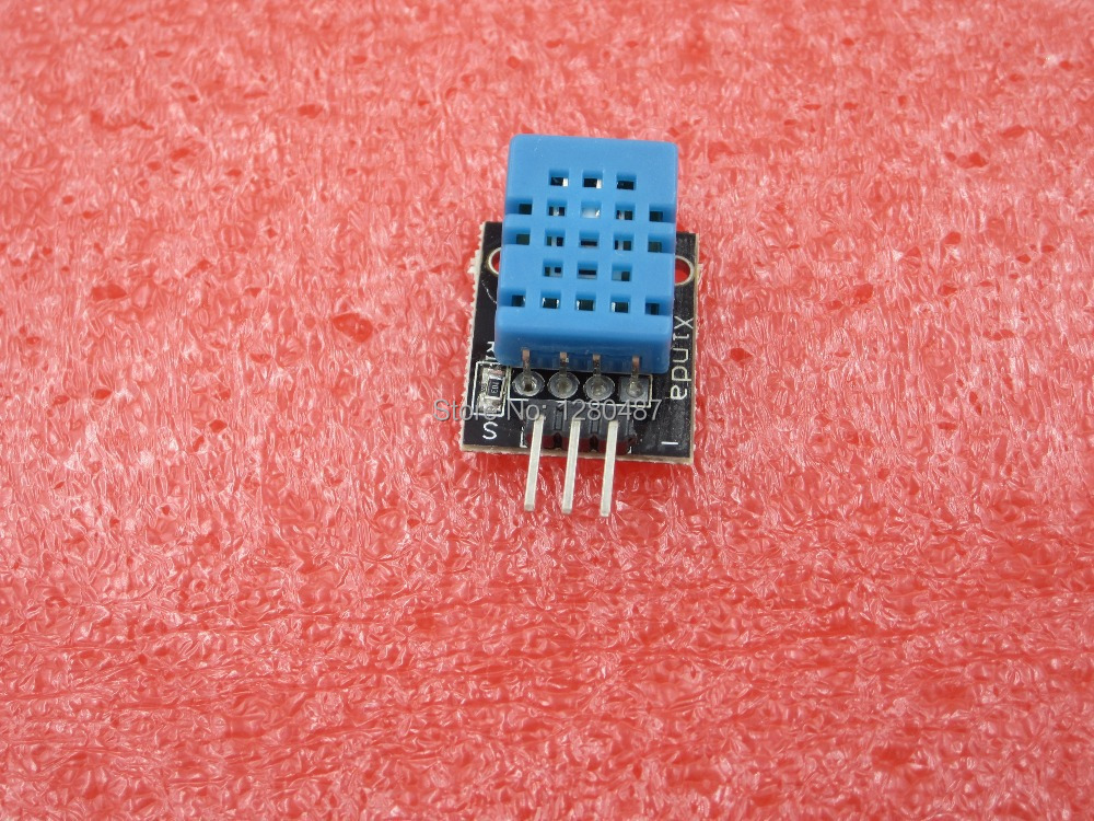 Free shiping 1PCS Temperature and humidity sensor module For-ARDUINO application DHT-11 DHT11+PCB(China (Mainland))
