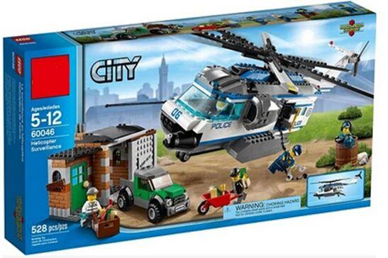 2016 new City Police Compatible legoe 60046 Police Helicopter Surveillance Minifigures building block toys for children gift(China (Mainland))