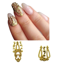 MNS571   MIX gold 3D metal nail art beauty stickers jewelry 20pcs for nails decoration(China (Mainland))